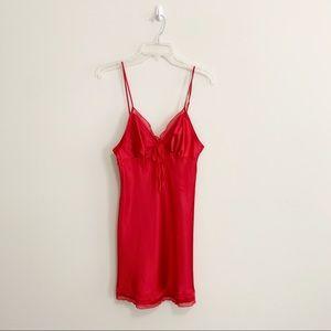 Victoria's Secret Red Slip Chemise Slip Lingerie S